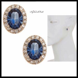 JUDITH JACK CRYSTAL PAVE CZ STONE EARRINGS